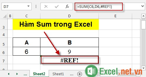 Hàm Sum trong Excel 4