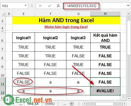 Hàm AND trong Excel 5